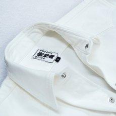 画像4: 75シリーズ《ホワイトデニム》のびのびストレッチ 79型シャツ (4)