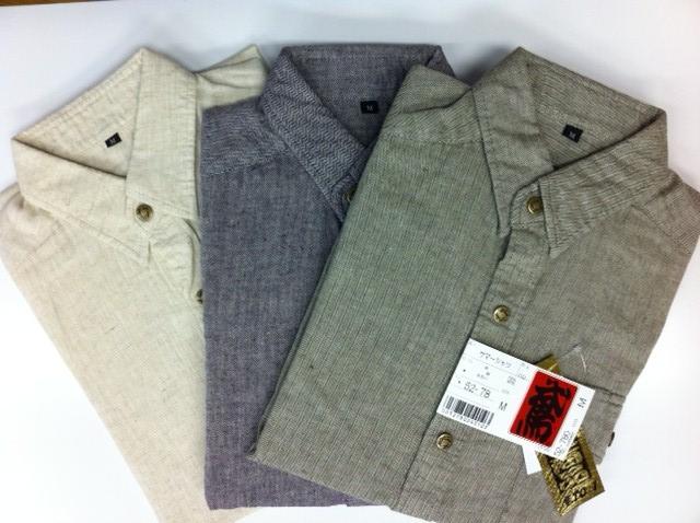 画像1: ●麻綿ヘリンボンシャツ-52series HEMP55%,COTTON45% (1)