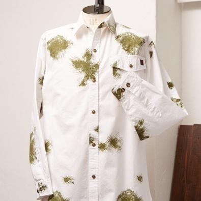 画像1: ●ミリタリースノーカモ サマーシャツ (1)
