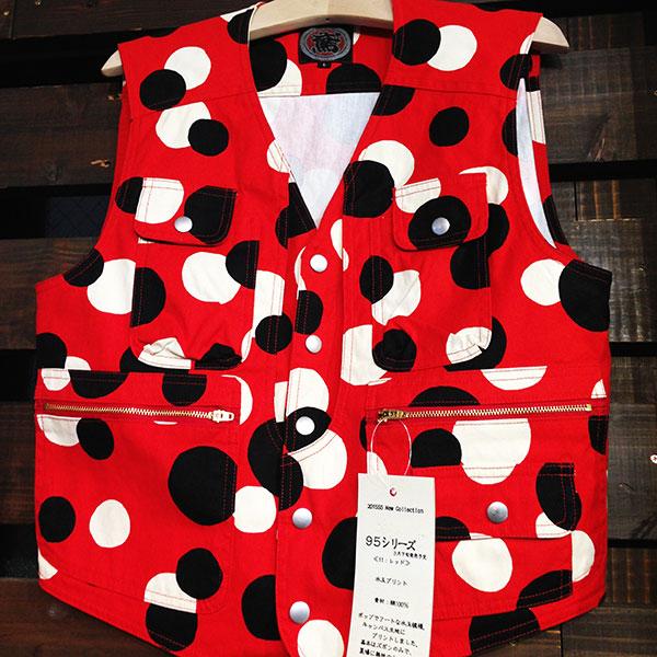 画像1: 《新作!数量限定》水玉 上着 シャツ、ベスト、ジャンバー M〜4L《受注生産品:代引き不可》 (1)