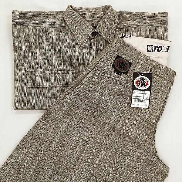 画像1: ○【上下セット】64シリーズ A-7ダルマM&手甲シャツSのセット 綿100%  (1)