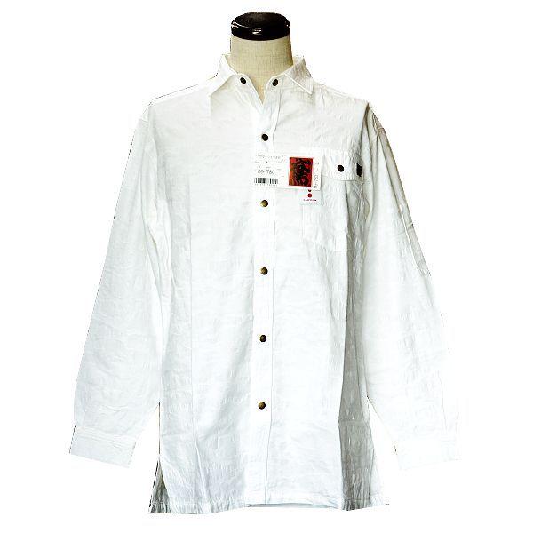 画像1: 【ネット限定】サマーシャツ ジャガード迷彩柄 サラシ (1)